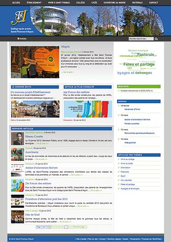 Site internet du collège-lycée Saint-Thomas-d'Aquin