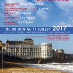 Affiche pour le Festival de Brigde de Biarritz